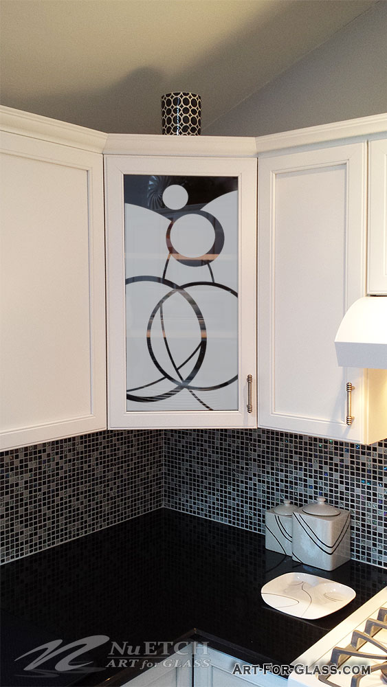 Art for Glass - Kitchen Cabinet Glass Circle Designs