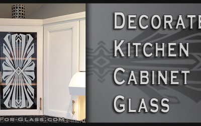 Etched Glass Kitchen Cabinet Doors