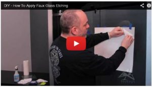 Video Tutorial on how to apply a Faux Etch Film Design